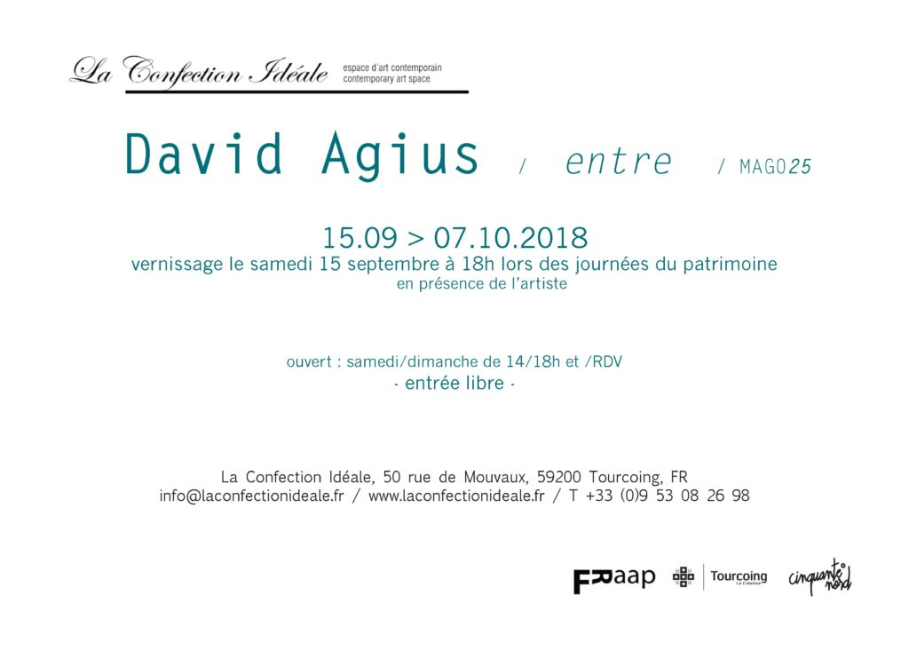 David Agius / entre / MAG025 Carton d'invitation